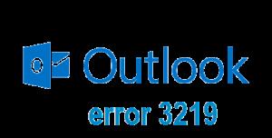 Outlook Error 3219